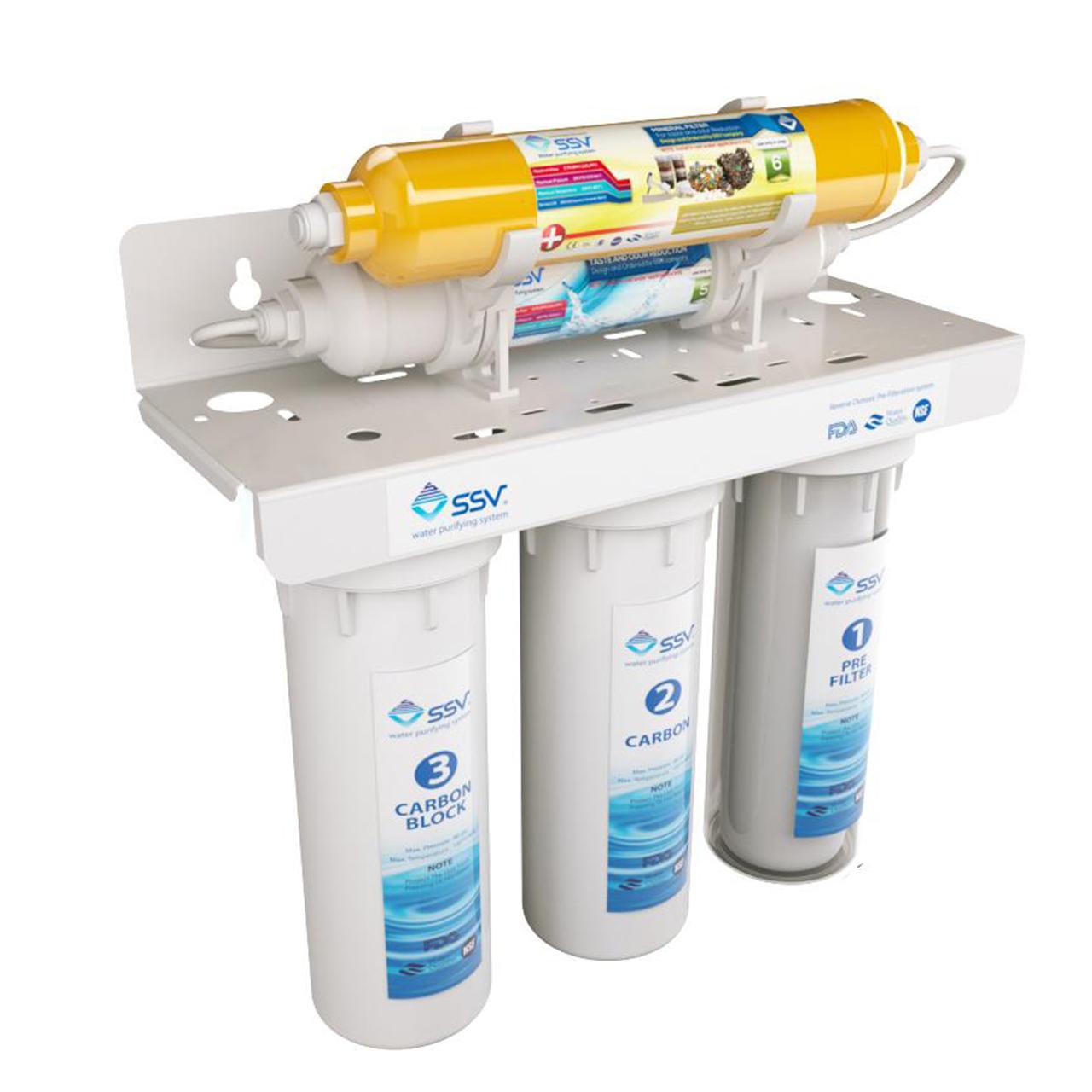 دستگاه تصفیه کننده آب اس اس وی مدل UltraJet X500 به همراه فیلتر یدک مجموعه 3 عددی و شارژ یدک مجموعه 2 عددی