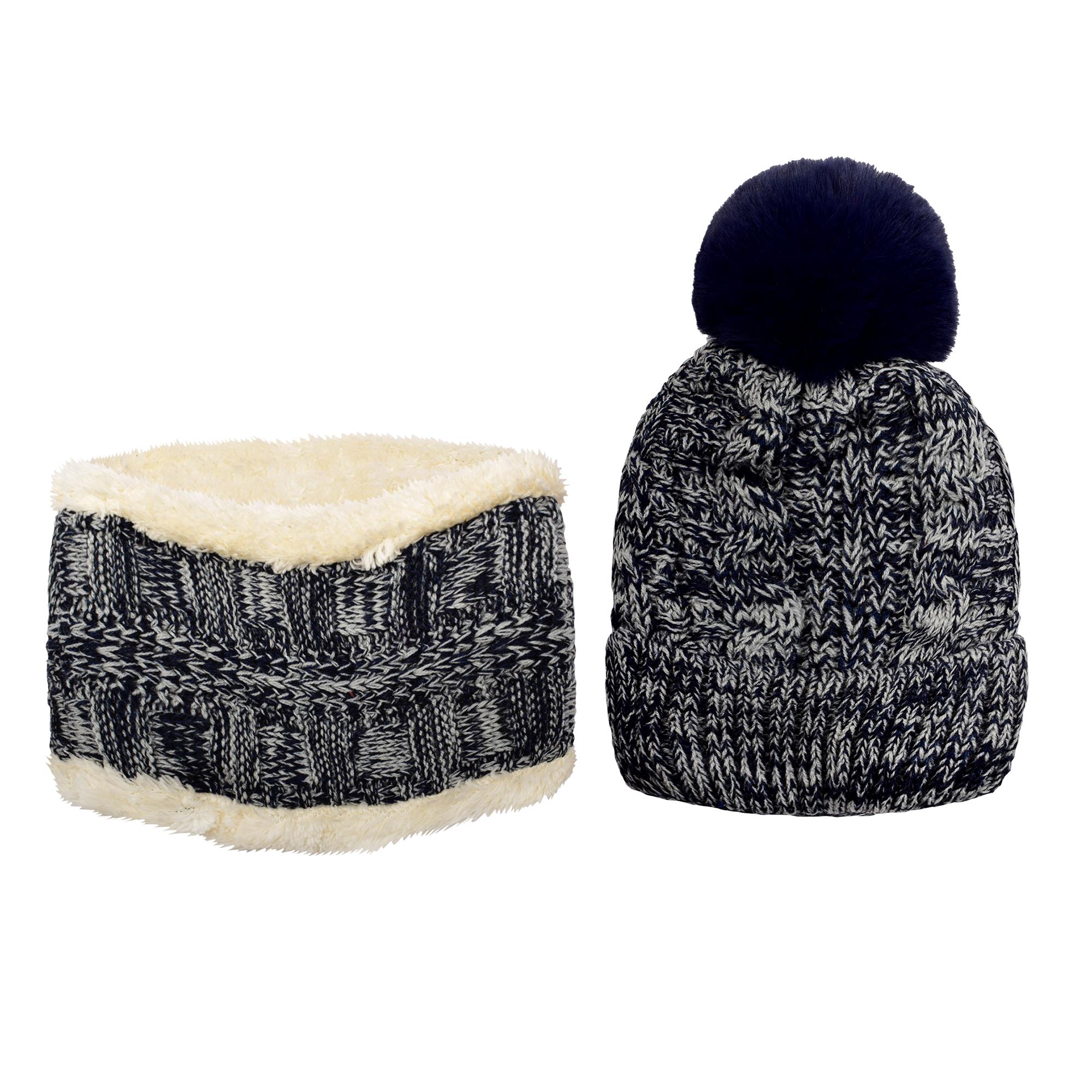 ست کلاه و شال گردن بافتنی بچگانه کد P0144-4