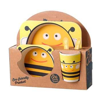 ظرف غذا 5 تکه کودک مدل Bee