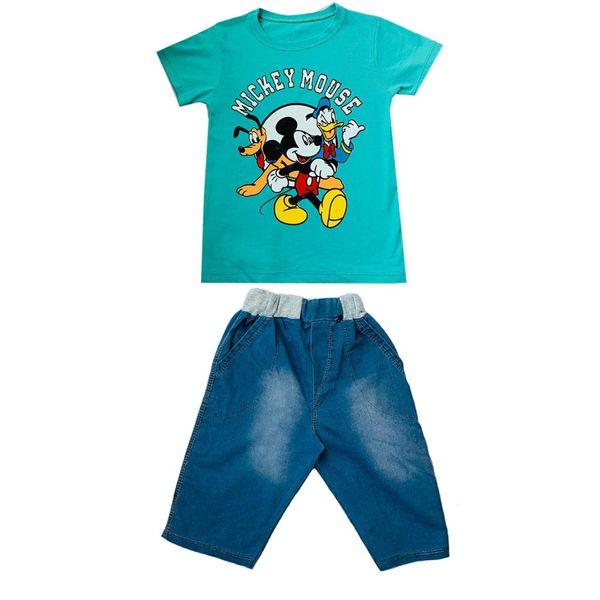 ست تی شرت و شلوارک پسرانه مدل Mickey G
