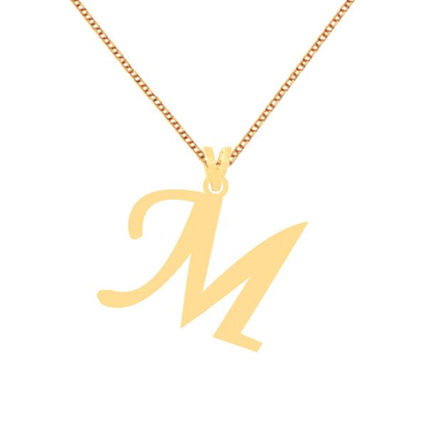 گردنبند طلا 18 عیار زنانه کرابو طرح حرف M مدل Kr71696