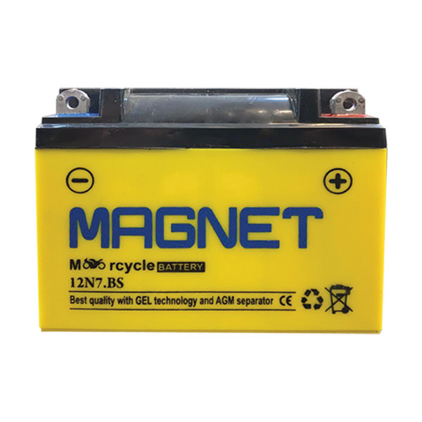 باتری موتورسیکلت مگنت مدل 12N7-BS