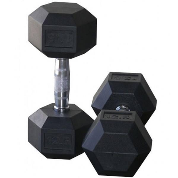 دمبل مدل شش ضلعی وزن ۱۲.۵ کیلوگرم بسته ۲ عددی