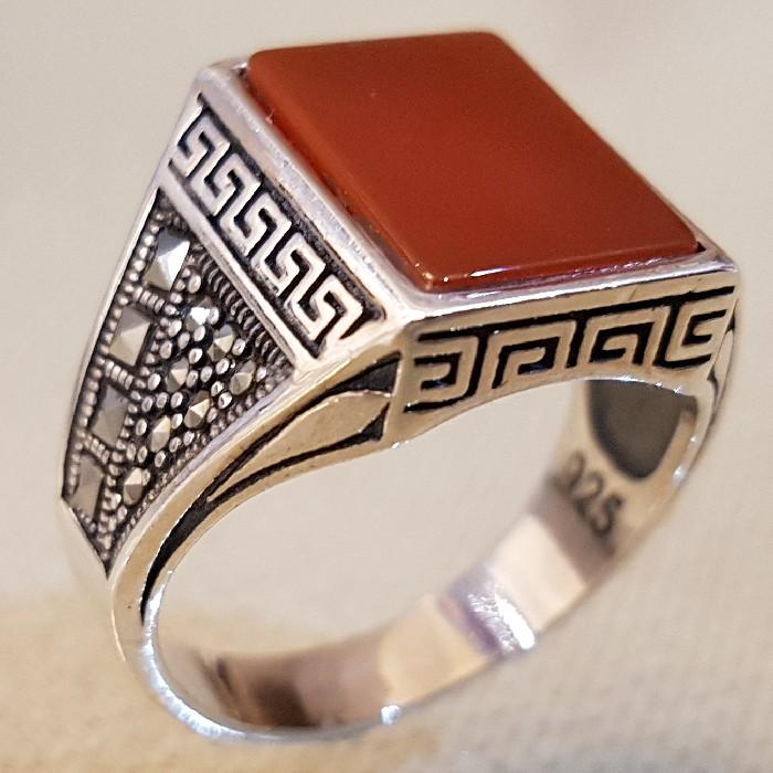 انگشتر نقره مردانه مدل PAS33