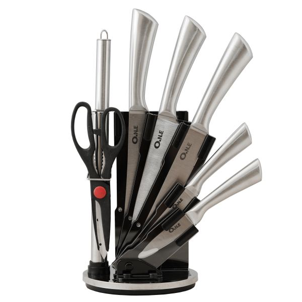 سرویس چاقو آشپزخانه 9 پارچه وان مدل 123