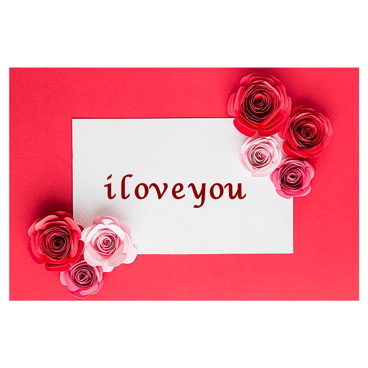 کارت پستال ماهتاب طرح عاشقتم دوست دارم i love you کد 1910