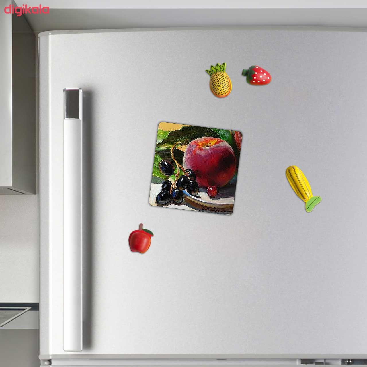 مگنت طرح نقاشی سیب و انگور کد wmg815