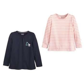 تی شرت دخترانه لوپیلو مدل 111-22 مجموعه 2 عددی