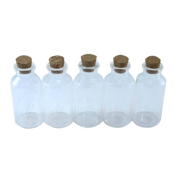 بطری دکوری مدل شیشه ای بسته 5 عددی