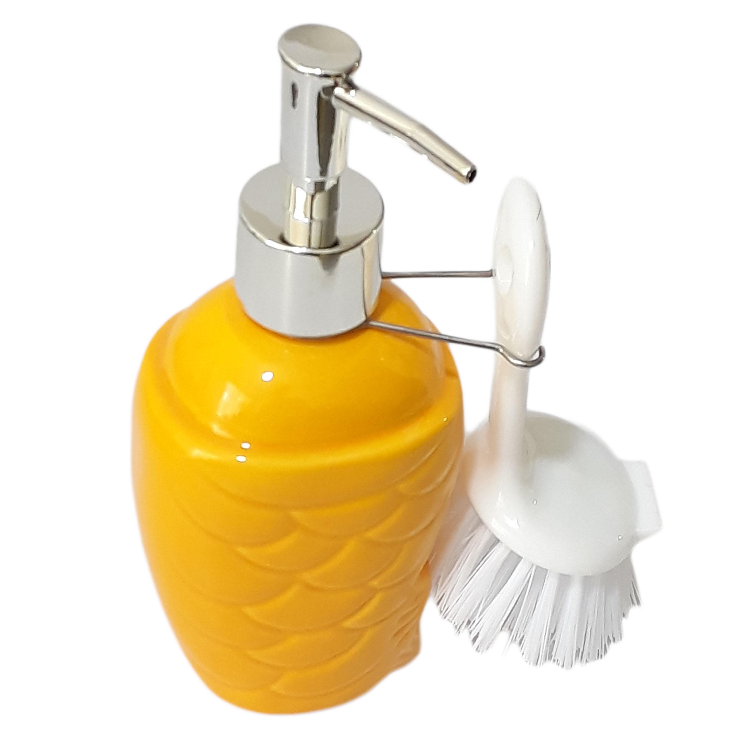 پمپ مایع ظرفشویی مدل sq1 به همراه فرچه