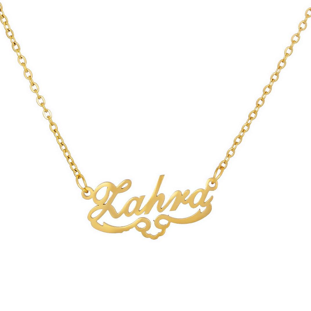 گردنبند طلا 18 عیار زنانه آمانژ طرح زهرا کد 1250D9174