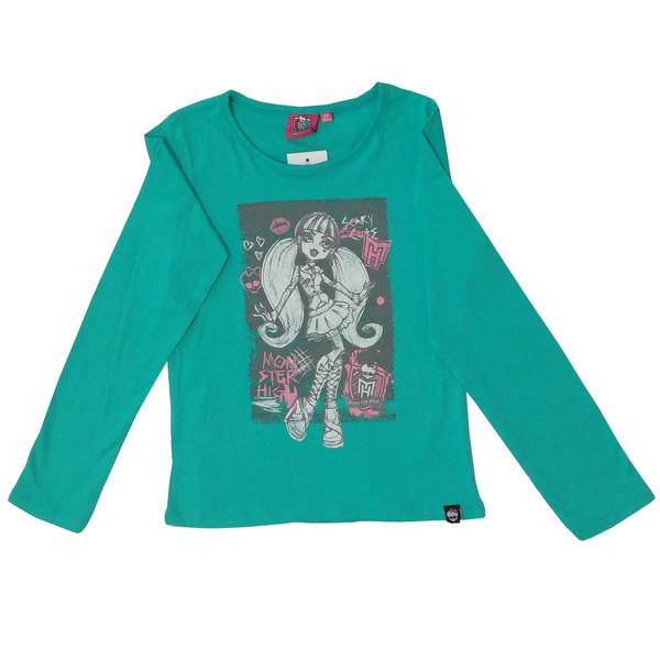 تی شرت آستین بلند دخترانه مانستر های مدل 11-12-153
