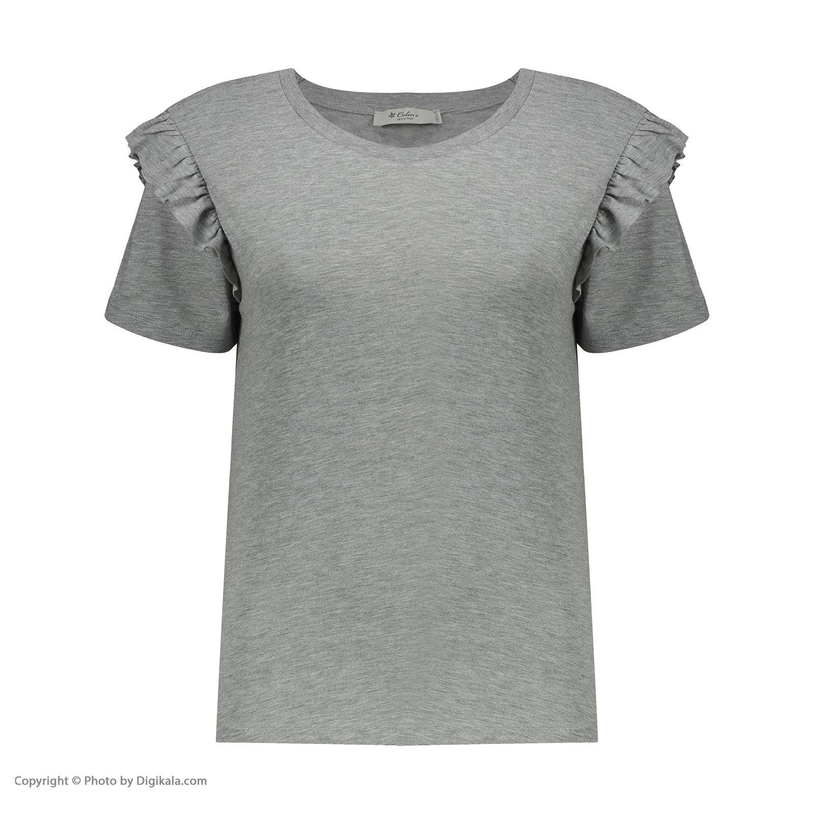 تی شرت زنانه کالینز مدل CL1031960-GREYMELANGE main 1 1