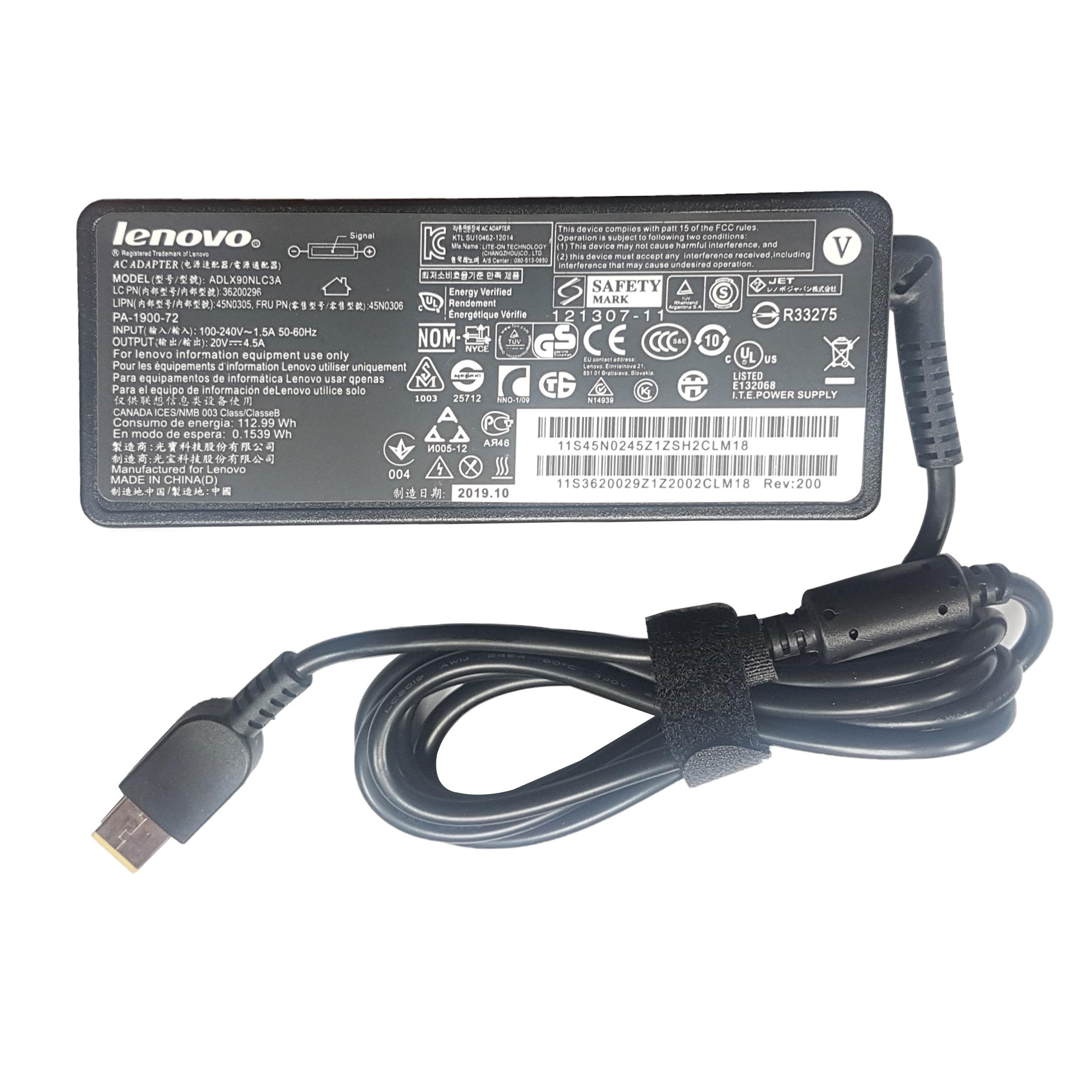 شارژر لپ تاپ 20 ولت 4.5 آمپر لنوو مدل ADLX90NLC3A AA
