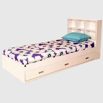 تخت خواب یک نفره لمکده مدل shelf سایز 90×200 سانتی متر
