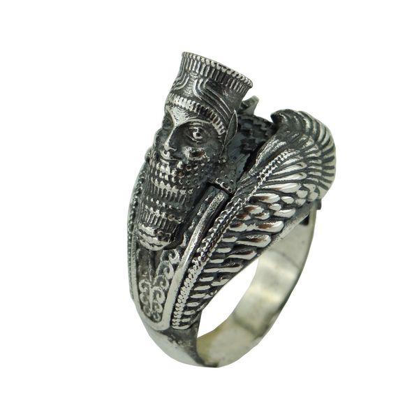 انگشتر نقره مردانه مدل 3d-2