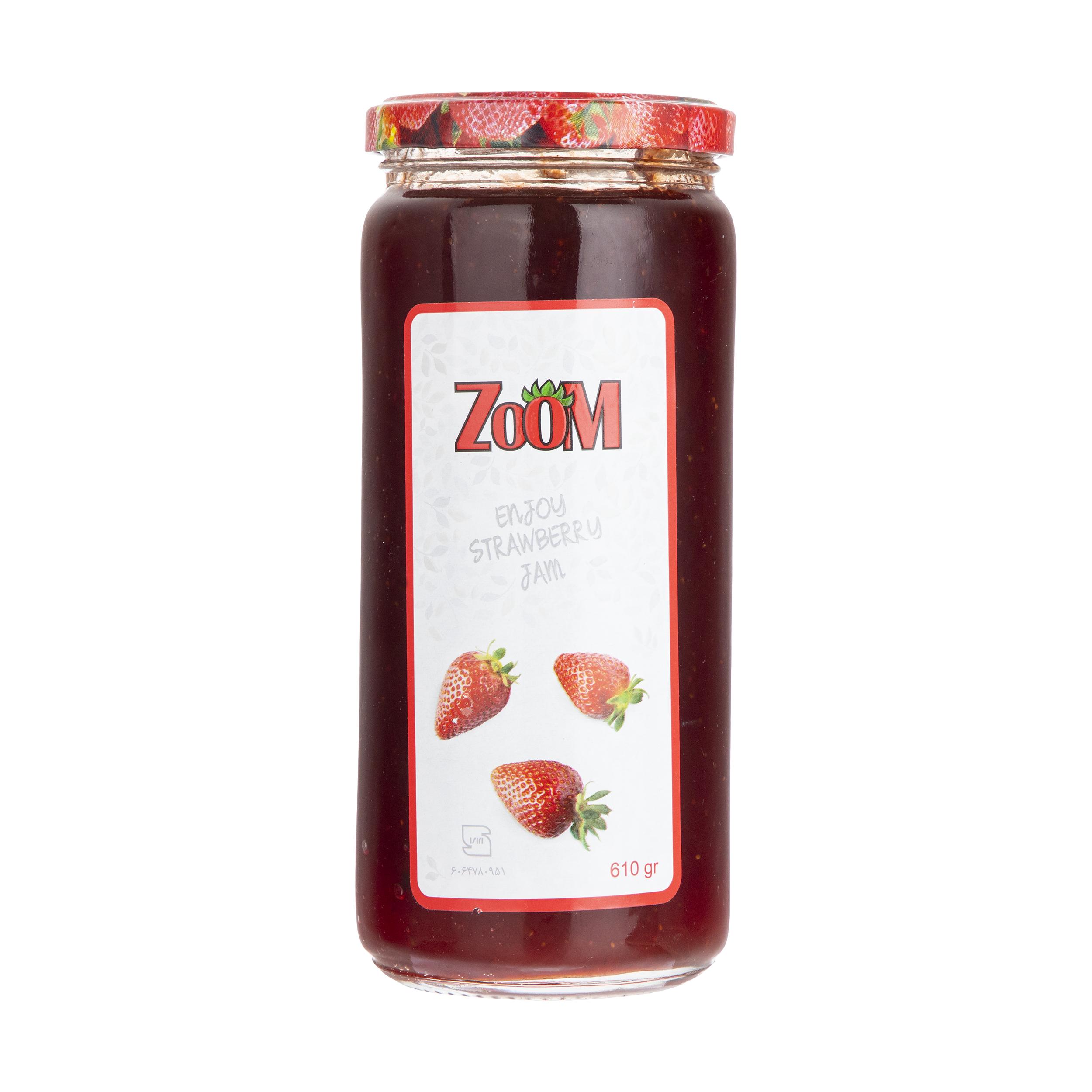 مربای توت فرنگی زوم - 610 گرم