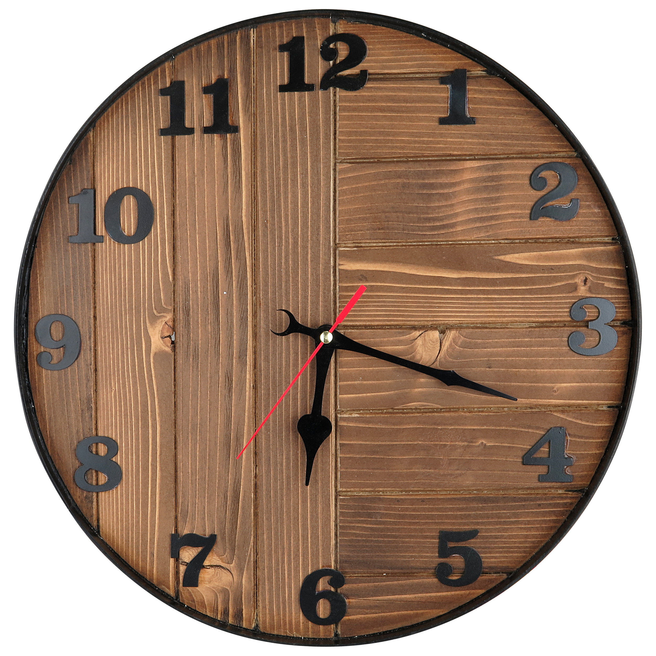ساعت دیواری چوبی آباج کد BROWN40