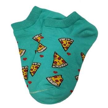 جوراب زنانه طرح پیتزا کد mo_1002