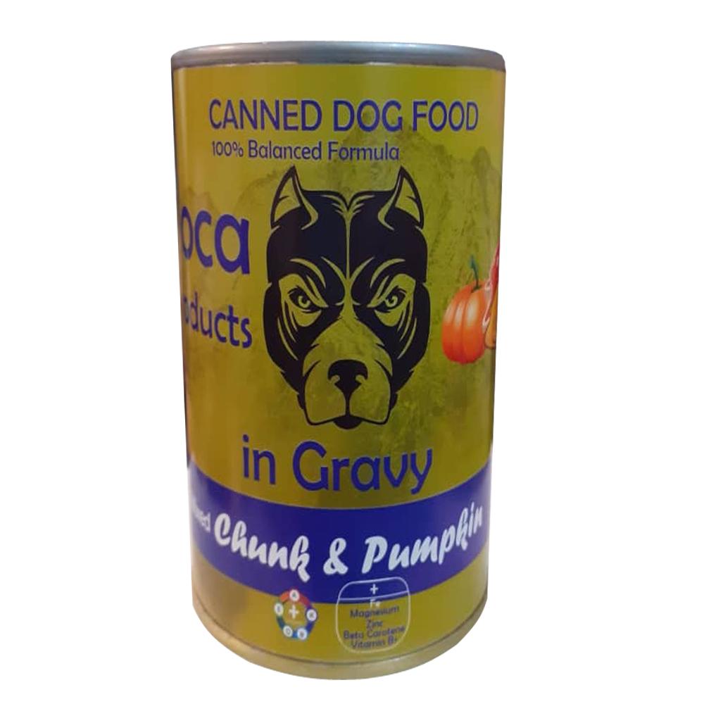 کنسرو غذای سگ لوکا مدل mixed cunk وزن 425 گرم