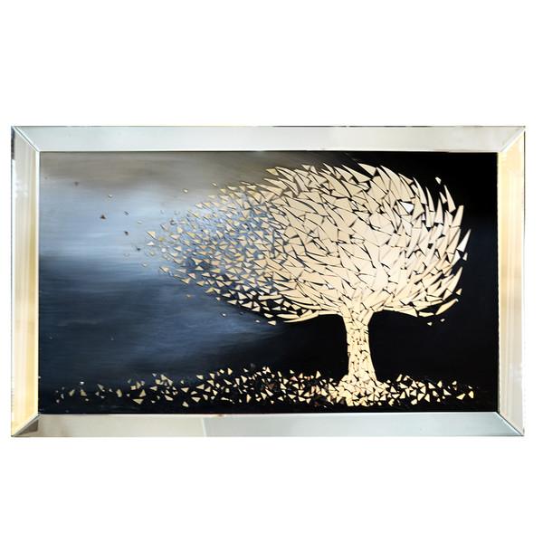 تابلو آینه کاری مدل درخت درباد کد d120