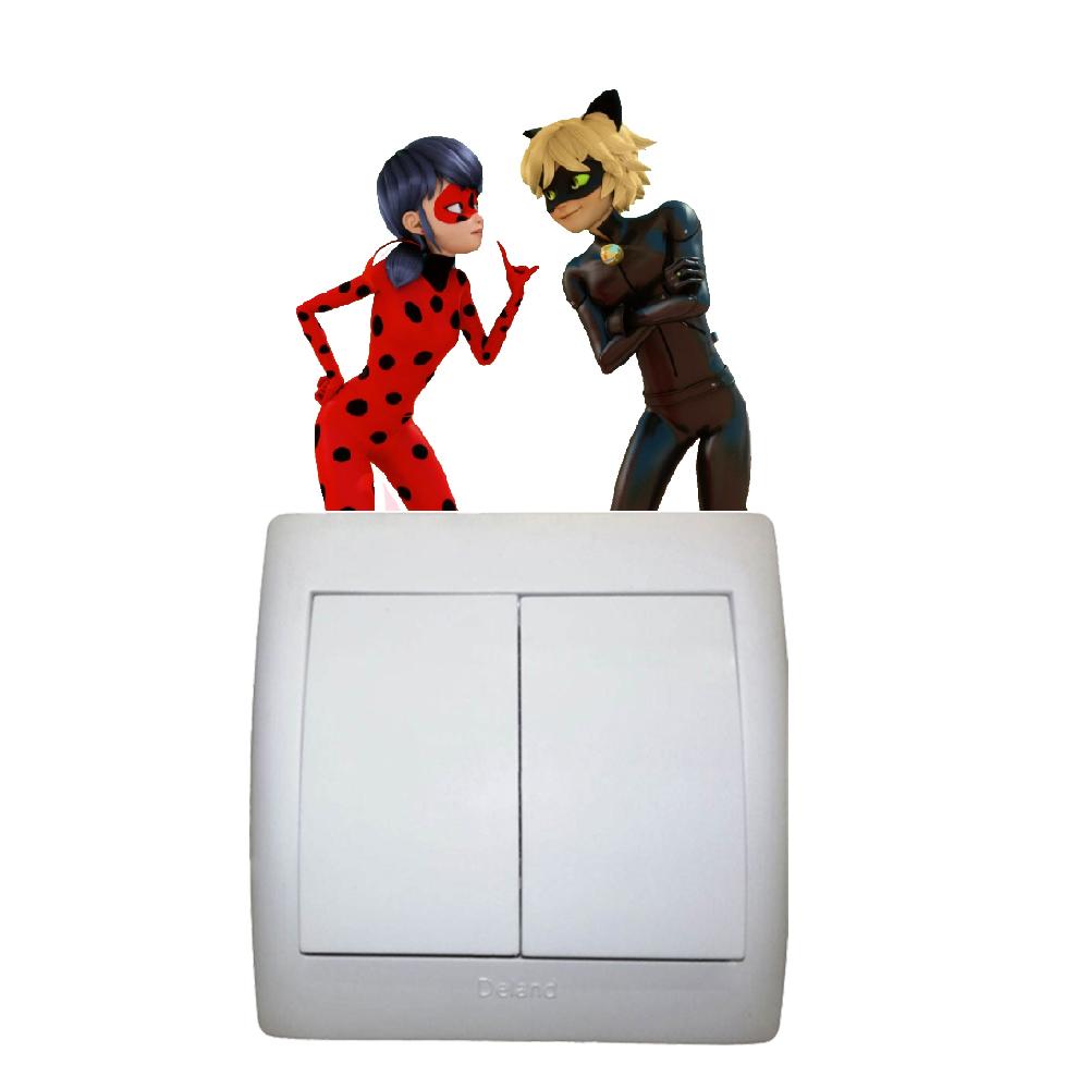 استیکر فراگراف کلید و پریز FG طرح دختر کفشدوزکی کد 0018 Ladybug