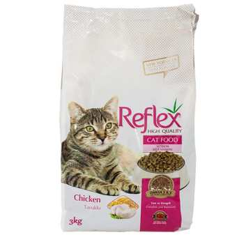 غذای خشک گربه رفلکس مدل chicken وزن 3 کیلوگرم