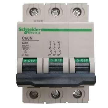 فیوز مینیاتوری سه فاز 32 آمپر مدل C60N