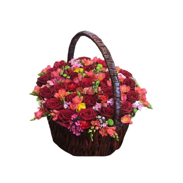 سبد گل طبیعی مدل ROA