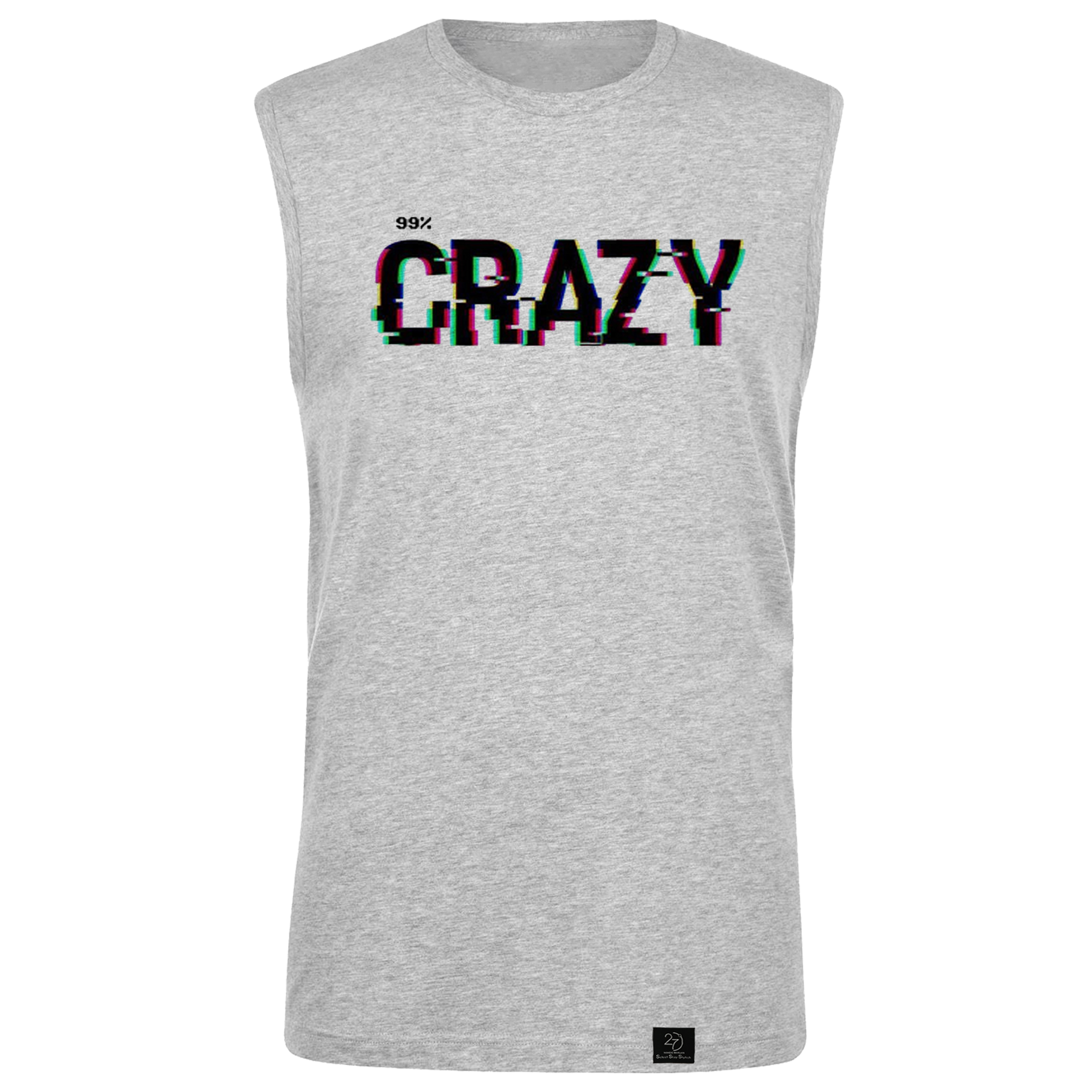 تاپ مردانه 27 مدل crazy کد V01 رنگ طوسی