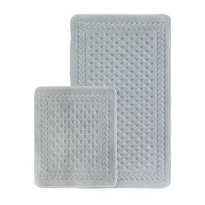 پادری حمام اکوکاتن طرح مربع مجموعه 2 عددی