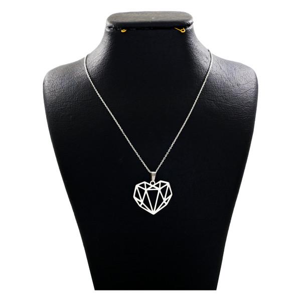 گردنبند نقره زنانه دلی جم طرح قلب کد D 117