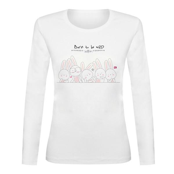 تی شرت آستین بلند زنانه کد TAB01-57