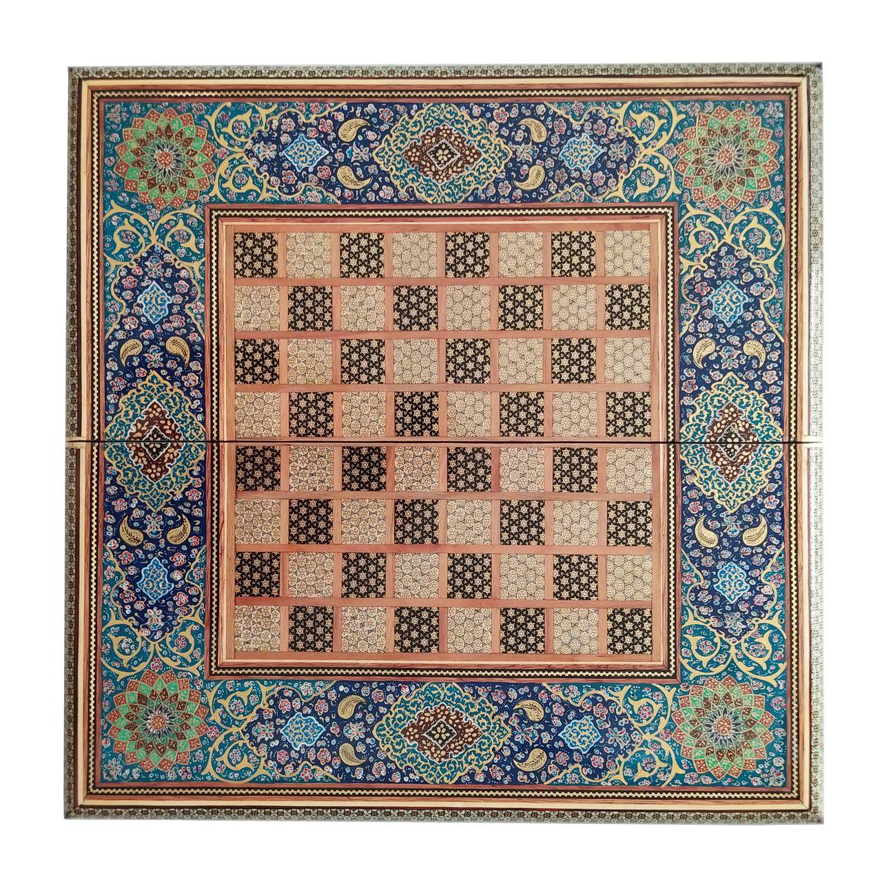 صفحه شطرنج خاتم کاری طرح تذهیب کد 5050