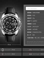 ساعت مچی عقربه ای مردانه اسکمی مدل 9156M-NP -  - 3
