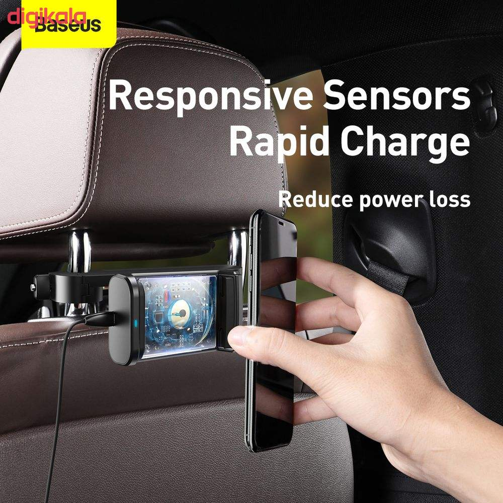 پایه نگهدارنده و شارژر بی سیم گوشی موبایل باسئوس مدل WXHZ-01 main 1 1