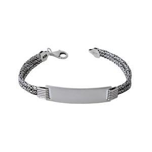 دستبند نقره مردانه بازرگانی میلادی کد DP_108