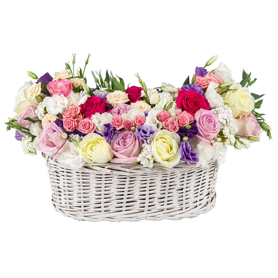 سبد گل طبیعی مدل آریا