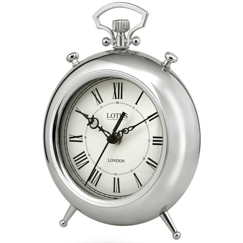 ساعت رومیزی لوتوس مدل BS-500-SILVER-SAN LUIS