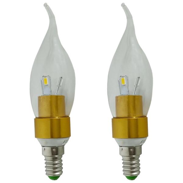 لامپ اس ام دی 3 وات زد اف آر کد ROO2 5730 پایه E 14 بسته 2 عددی