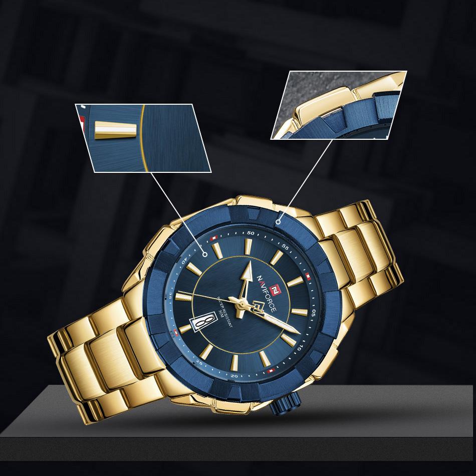ساعت مچی عقربهای مردانه نیوی فورس مدل NF9176M - TA-AB              اصل