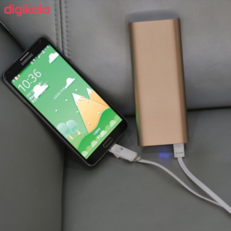 کابل تبدیل USB به لایتنینگ/microUSB آران مدل B10M6 طول 1 متر main 1 6