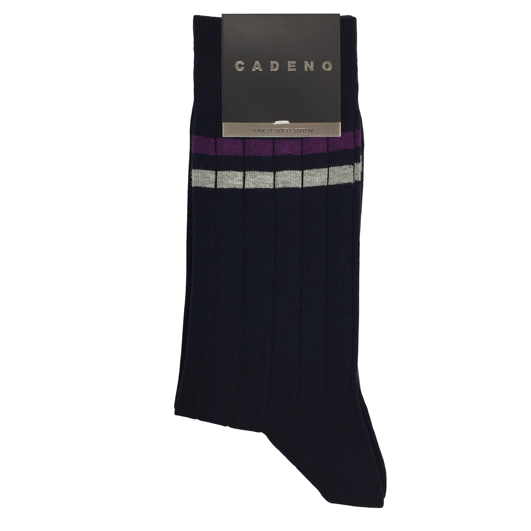 جوراب مردانه کادنو مدل ST-R34 رنگ سرمه ای thumb