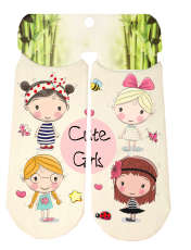 جوراب دخترانه طرح دختر کد SCb51 -  - 1