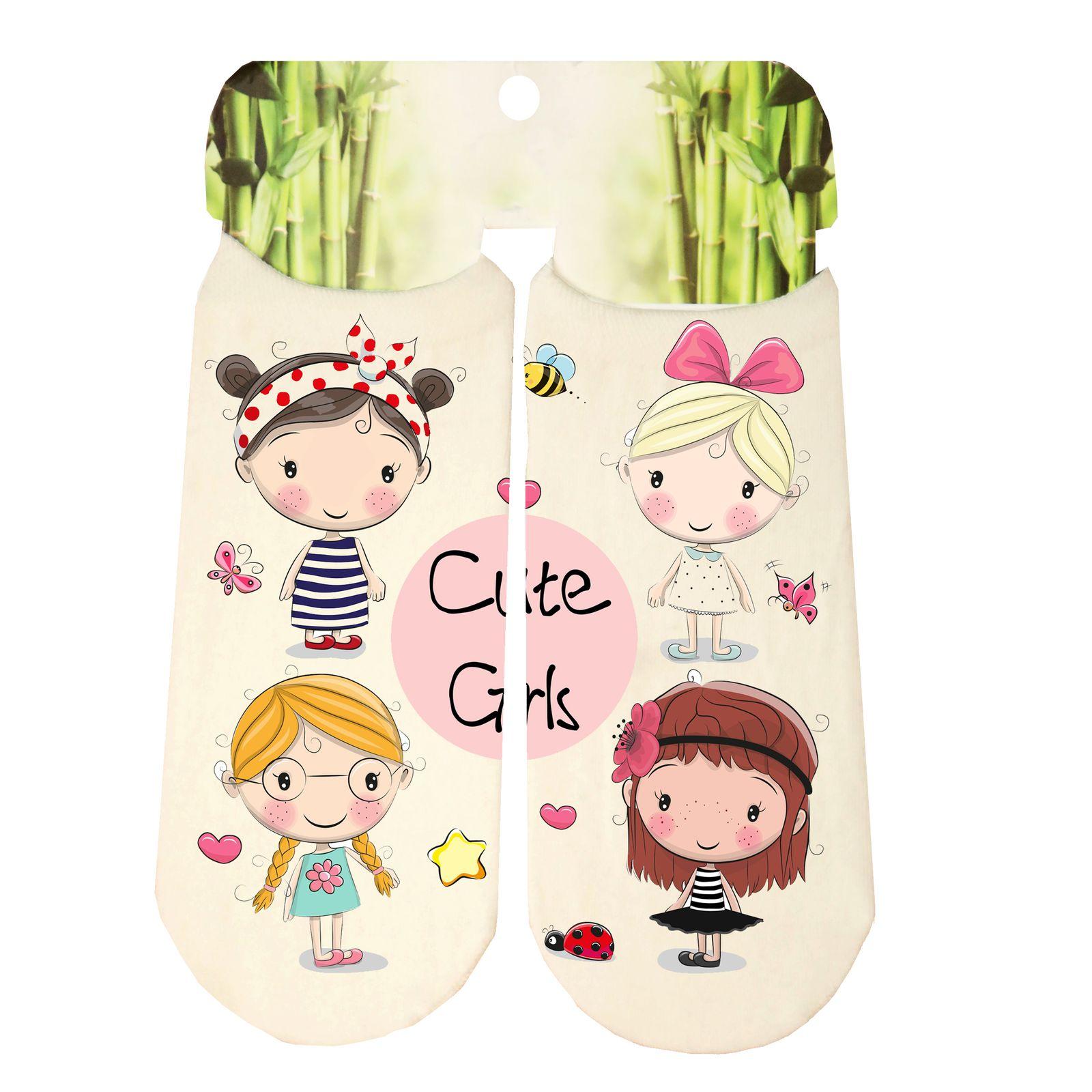 جوراب دخترانه طرح دختر کد SCb51 -  - 2