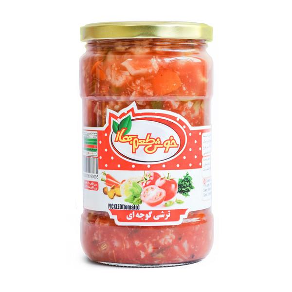 ترشی مخلوط با گوجه فرنگی خوش طعم بهار - 680 گرمی