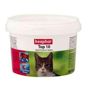 قرص مولتی ویتامین گربه بیفار مدل TOP 10بسته ۱۸۰ عددی