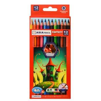 مداد رنگی 12 رنگ آسیا مدل G-12