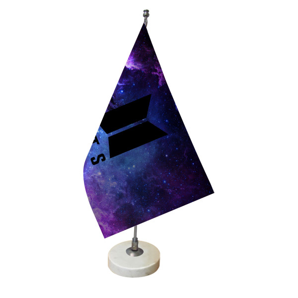 پرچم رومیزی طرح بی تی اس BTS کد pr117