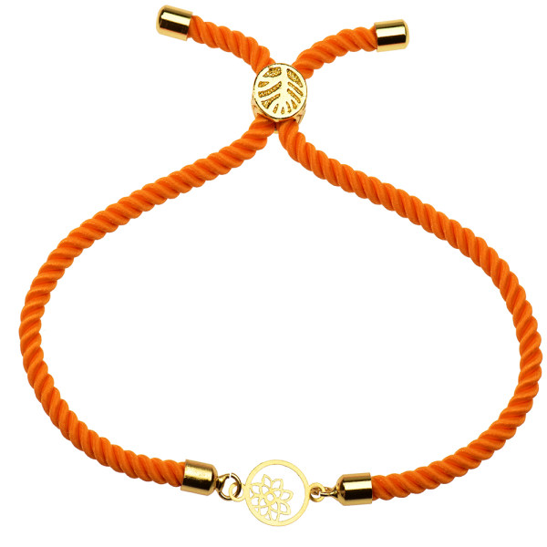 دستبند طلا 18 عیار دخترانه کرابو طرح گل و ستاره مدل Krd1138